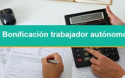 Mínimo exento de cotización a la seguridad social y bonificación a trabajadores autónomos