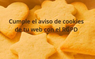 Adaptar el aviso de cookies al RGPD